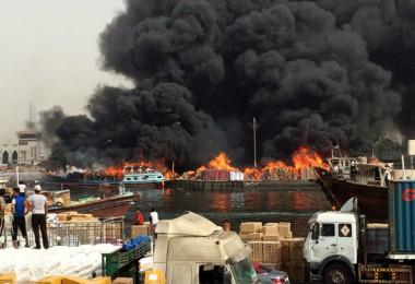 شناورهای بوشهر در دبی آتش گرفت