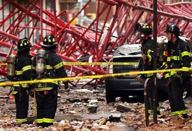 سقوط جرثقیل غولپیکر در نیویورک