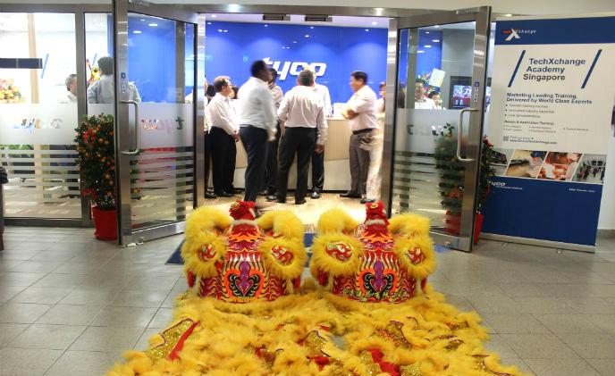 افتتاح آکادمی آتش نشانی Tyco در سنگاپور